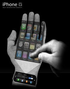 The iPhone 'Next G' is Virtually Weightless in Your Palm Designed by Samuel Lee Kwon, the iPhone 'Next G' redefines its current concrete counterpart. Though the new wrist-worn concept is tangible technology, the Apple gadget's familiar touchscreen is projected onto the wearer's palm.