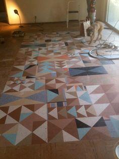 """linoleum """"rug"""" by illustrator amanda visell."""
