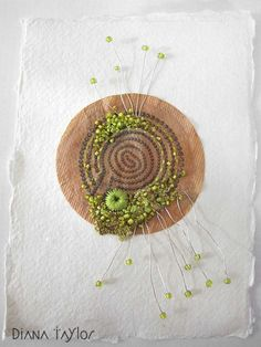 Mossy Garden embroidered teabag by Velvet Moth Studio
