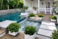 Pool and spa. Pool spa backyard. Pool spa backyard #Pool #spa #backyard Craig Reynolds Landscape Architecture