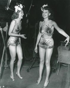 Leslie Brooks and Rita Hayworth