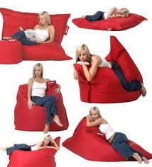 jpg I want one, it looks so comfortable. Great for bad nights when cant get in comfortable postion. Kids Hanging Chair, Mushroom Chair, Bean Bag Furniture, Giant Bean Bags, Beach Centerpieces, Basement Furniture, Cosy Corner, Quites, Diy Pillows