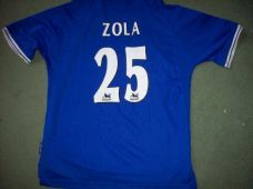 1999 2001 Chelsea Zola Home Football Shirt Adults Large
