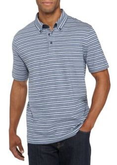 Nautica Men's Classic Fit Striped Polo Shirt - Blue Indigo Heather - 2Xl