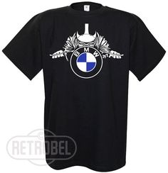 Mens T-shirt BMW motorcycles, Black, Cafe Racer, Classic Vintage Motorcycle…