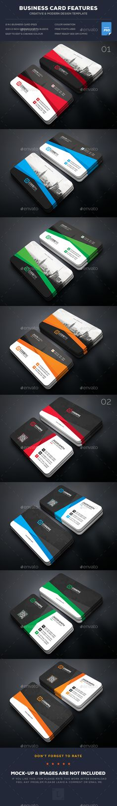 Corporate Business Card Templates PSD Bundle. Download here: https://graphicriver.net/item/corporate-business-card-bundle/17602339?ref=ksioks
