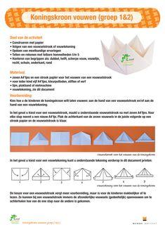 Koningskroon groep 1en2 - Menne Instituut - Met Sprongen Vooruit Msv, Games For Kids, Homeschool, Crowns, Games For Children, Homeschooling