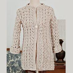 broomstick lace cardigan #crochet pattern by Mon Petit Violon