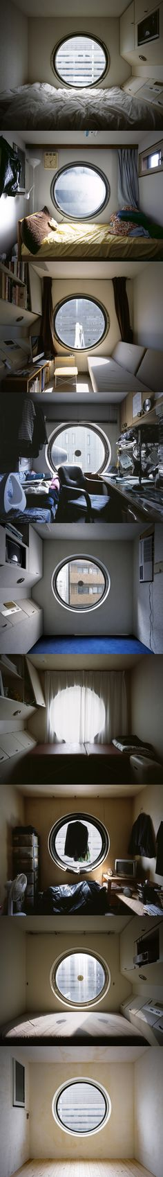 small spaces are becoming of a mega populated city. living quarters have stopped signalling certain messages regarding your lifestyle, so no one really cares you are cramped in tiny tiny rooms.