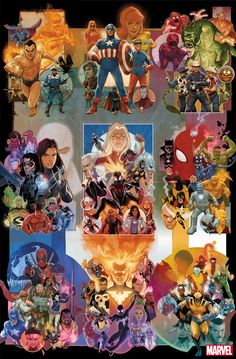 Celebrate Anniversary with Covers by Phil Noto Marvel Heroes Avengers X-Men Fantastic Four Defenders Guardians of The Galaxy New Mutants Midnight Sons Alpha Flight Champions Invaders Young Avengers X-Force Runaways Marvel Vs Dc Comics, Marvel News, Arte Dc Comics, Marvel Comic Universe, Comics Universe, Marvel Art, Marvel Heroes, Marvel Characters, Character Drawing