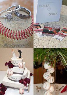 baseball wedding cake pops - baseball themed wedding reception ...