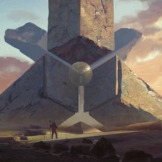 Concept Art Beacon of knowledge, Darius Kalinauskas Arte Sci Fi, Sci Fi Art, Fantasy Places, Fantasy World, Fantasy Concept Art, Fantasy Art, Space Fantasy, Fantasy Landscape, Landscape Art