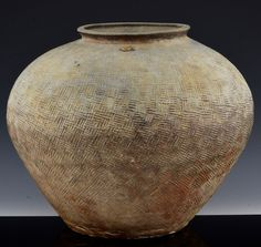 VERY EARLY CHINESE HAN DYNASTY TO WARRING STATES LARGE CERAMIC BULBOUS JAR VASE Vases, Chinese, Jar, Ceramics, Ceramica, Jars, Ceramic Art, Clay Crafts, Vase
