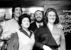 Adam Bonygne, Marilyn Horne, Luciano Pavarotti, and Joan Sutherland