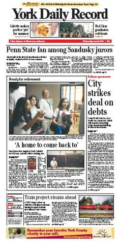 York Daily Record front page June 6