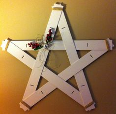 Upcycled blind slat star invented by our very own Cathy!