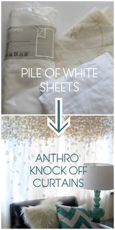 anthropologie knock-off flutter curtains (SYTYCS week 2) | kojodesigns