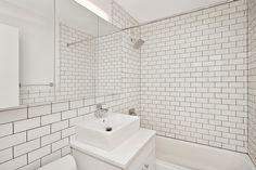 Love this all white bathroom! 304 E. 20th St. - Apartment interior.