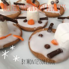 Simple recipe for these brilliant melted snowmen biscuits (cookies) So simple these were made by a 3,4 and 6 year old melted snowmen biscuits