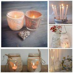 Hermosas velas artesanales decoradas con hilos , telas, para decorar y que tu casa tenga una luz diferente y sea acogedora, muy lindas