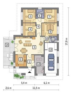 Bungalow, House Drawing, Planer, Home Goods, House Plans, Floor Plans, How To Plan, Houses, Home Plans