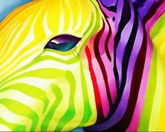 DIY Art Colorful ZEBRA Acrylic Painting by numbers on canvas size 50x40 CM - http://crafts.goshoppins.com/art-supplies/diy-art-colorful-zebra-acrylic-painting-by-numbers-on-canvas-size-50x40-cm/