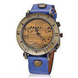 Amazon Angebot Musik Schöne Uhren, Frauen-Weinlese-Musik Muster runden Zifferblatt PU-Band Quarz Analog Armbanduhr…Ihr QuickBerater