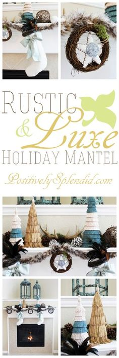 Rustic-Luxe Holiday Mantel (Part of the @HGTV and @Jo-Ann Fabric and Craft Stores 2013 Holiday House Mantel Blogger Challenge!) #holiday #mantels