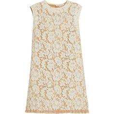 Miu Miu Floral lace A-line dress ❤ liked on Polyvore