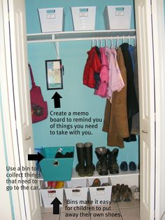 The Complete Guide to Imperfect Homemaking: Day Two: An Organized Coat Closet part of 31 days of organization