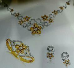 Jewelry design illustration.