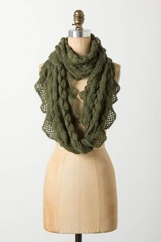 ruffled loop scarf / anthropologie... perfect for fall
