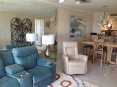 Contemporary Family Room designed by Andrea Z @ Indian River Furniture