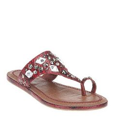 This Red Avalon Sandal by Coconuts is perfect! #zulilyfinds
