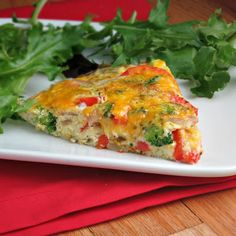 Vegetarian, gluten free, quick and easy vegetable frittata with cheese using up what you have on hand.