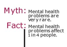 Mental health problems affect 1 in 4 people...let's end the stigma and start a conversation...it's TIME!