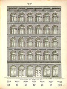 archimaps: Design for a cast iron facade, New York City