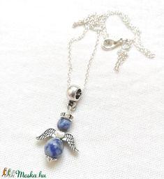 Önbizalom angyala - szodalit angyalka ásvány nyaklánc, féldrágakő szodalit angyal medállal (Asvanyfantaziak) - Meska.hu Pendant Necklace, Jewelry, Fashion, Moda, Jewlery, Jewerly, Fashion Styles, Schmuck, Jewels