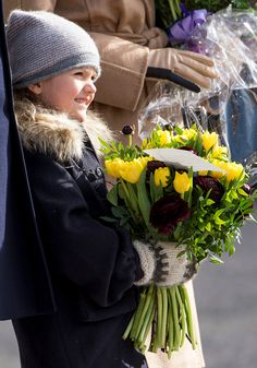 Princess Estelle of Sweden during celebrations for Crown Princess Victoria of Sweden name day at The Royal Palace on March 12 2017 in Stockholm Sweden