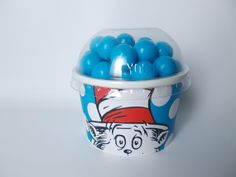 Dr. Suess Cat in the Hat party favor cups with lids by PrissyParty, $12.00