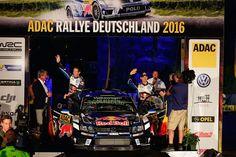 Sebastian Ogier und Julien Ingrassia bei der Startzeremonie der Rallye Deutschland / Deutschland Rallye 2016 in Trier  #SebastienOgier #GOgier #ogier #JulienIngrassia #ingrassia  #rallyedeutschland #deutschlandrallye #rallygermany  www.Motorsport-Freelancer.de  #vwpolo #rallyevwpolo #rallyevwpolowrc #rallyevwpolorwrc  #volkswagenmotorsport #vw #volkswagen #wrc  Bildquelle: Volkswagen Motorsport Content & Media pool