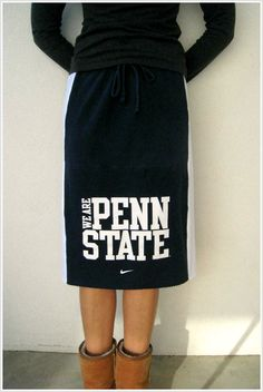 NEW...Penn State T Shirt Skirt / Nittany Lions / Navy Blue by ohzie