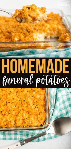 Cheesy Potato Casserole is better known to many as Funeral Potatoes, not because you only eat them at funerals, but because they're a staple for feeding large groups of people. #funeralpotatoes #cheesepotatocasserole #casserole #luncheon #familygatheringrecipes #potluckrecipes #potatoes #potatocasserole Party Recipes, Brunch Recipes, Easy Dinner Recipes, Cheesy Potato Casserole, Cheesy Potatoes, Unique Recipes, Amazing Recipes, Potato Side Dishes, Main Dishes