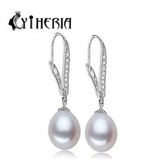 CYTHERIA 100% natural Pearl earring, Pearl with 925 Sterling Silver earrings,Birthday gift Jewelry Women stud earrings SmsAliexpress #smsaliexpress
