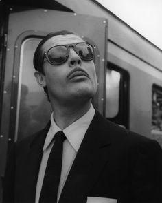 """#MarcelloMastroianni in """"Divorzio all'Italiana"""" by #PietroGermi 1961 -- #BlackTie with #Persol 649 sunglasses"""