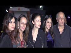 Alia Bhatt with family at the screening of BADRINATH KI DULHANIA movie.
