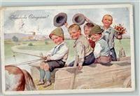 BKW Serie 4130-3 Ostern - Kinder Ausflug mit Pferd und
