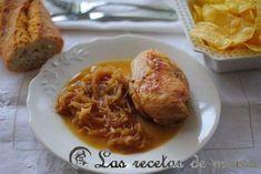 Pollo encebollado al Madeira