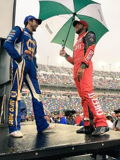 Chase Elliott and Bubba Wallace