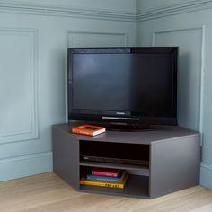 meuble tv d'angle design pin massif brut 3 niches matendance ... - Meubles Tv D Angle Design